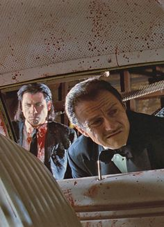 John Travolta & Harvey Keitel in Pulp Fiction, der Cleaner muss es richten. Death Proof, Great Films, Good Movies, Love Movie, Movie Tv, Quentin Tarantino Films, Tarantino Pulp Fiction, Pier Paolo Pasolini, Reservoir Dogs