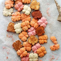 Pumpkin Spice Spritz Cookies ~ Buttery and delicious spritz cookies flavored with everyone's Fall-favorite, pumpkin spice!