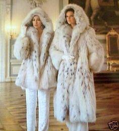 Hooded Lynx Fur Coats Add me, Pin it, Share it! Fur Fashion, Winter Fashion, Fox Fur Coat, Fur Coats, Fabulous Furs, Mode Chic, Vintage Fur, White Fur, Jackett