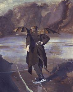 John Collier - The devil skating when Hell freezes over