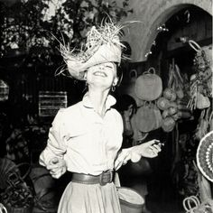 Audrey Hepburn: Still amazingly beautiful, even while making silly faces.