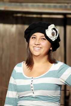 Perfect for cool fall days!  Upcycled Black Cashmere Hat With Shabby Chic by Geminivintagestore, $25.00
