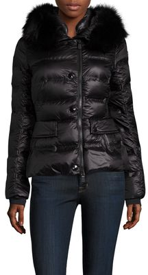 Please click on the picture to go to the detail page.  Armonique Fur Trim Hood Puffer Jacket