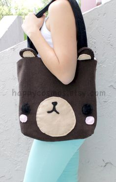 Brown Bear Bag - Cute Backpack, Kawaii Schoolbag, Bookbag