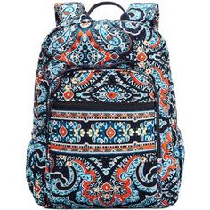 My friend Ashby loves this pattern because these are the broncos colors Vera Bradley Handbags, Vera Bradley Backpack, Cute Backpacks For School, Girl Backpacks, Backpack Purse, Backpack Pattern, Rucksack Bag, Backpack Online, Vera Bradley Patterns