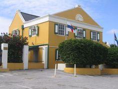 Bon Bini Liqueur Factory. This is the Curacao Curacao distillery (original blue Curacao liqueur).