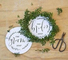Chair Signs Free Wedding Printables | These DIY wedding signs will be adorable at your reception!