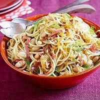Spaghetti with Salami & Fennel This hearty pasta dish gives you a great excuse to try some amazing Italian salamis.