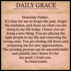 Daily Grace... amen. one day at a time.