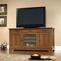 [Toy Storage Ideas] Sauder Carson Forge Tv Stand In Washington Cherry -- See this great product. (This is an affiliate link) #ToyStorageIdeas
