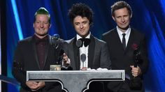 Tré Cool, Billie Joe Armstrong and Mike Dirnt of Green Day gave a heartfelt acceptance speech at the Rock and Roll Hall of Fame
