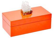 MEDIUM ORANGE BOX W/ HIMALAYAN CRYSTAL
