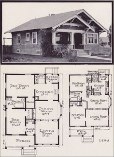 1922 Stillwell - Plan No. L-138 Grandma Mae's friend Maggie had a house like this. Loved going there!