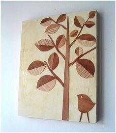 How to work with wood versatile veneer do it yourself art bookhoucraftprojects project 13 wood veneer collage solutioingenieria Gallery