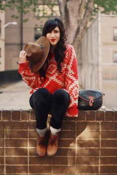 all bundled_colorful keys_ethnic geo sweater