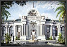 Modern Villa Design, Classic House Design, Duplex House Design, House Architecture Styles, Facade Architecture, Interior Exterior, Exterior Design, House Design Pictures, Neoclassical Architecture