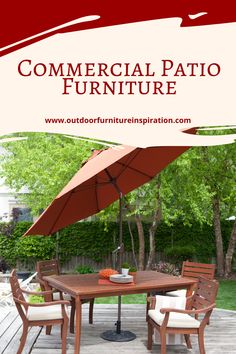 Commercial Patio Furniture The better you plan for a commercial patio furniture order the happier you will be with the results Quality commercial patio furniture enhances the looks of your major property or resort Guests are more likely to choose a location if they can view a picture of the hotel Don't turn guests away with barren patios and balconies Entice them with elegant veranda seating and beautiful patio areas There are some tips to get any business owner ready to purchase patio… Commercial Patio Furniture, Balconies, Elegant, Business, Amazing, Outdoor Decor, Pictures, Beautiful, Home Decor