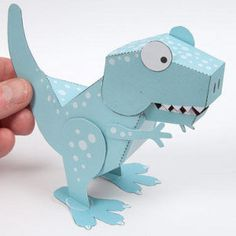 Awesome Printable Tyrannosaurus Rex: this free printable paper toy is so awesome! If your kids love dinosaurs, then they will love this paper craft toy!