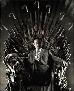 Mycroft Holmes on the Umbrella Throne...