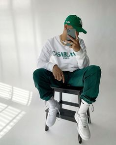 "Menswear on Instagram: ""Go green 🌱 @blvckmvnivc 