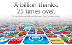 25,000,000,000 App downloads  Wow
