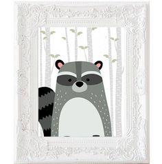 Conjunto de 6 muestra animales bosque impresiones abedul árbol gris vivero forestal animales ciervos erizo mapache conejo zorro oso arte imprimible archivo DIGITAL ________________________________________ Este listado es para archivos digitales. Esto es un objeto imprimible. Ningún producto