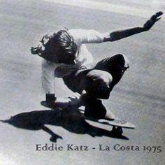Eddie Katz / Skateboarder/ Photo by Warren Bolster / 1975 La Costa California USA.