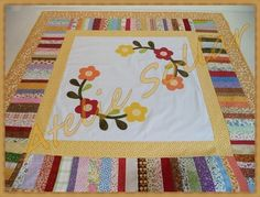 Toalha de mesa em patchwork Flores