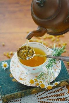 Chamomile tea the perfect drink before bed. Try having a little cuppa after doing your night time stretches for the best night sleep.