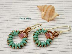 Con perlas y a lo loco...: Pendientes Herradura PE.0348