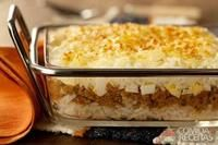 Arroz de forno com carne moída e queijo receitas Receta de arroz Pasta, Rind, Macaroni And Cheese, Good Food, Food And Drink, Meals, Cooking, Healthy, Ethnic Recipes