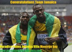 PARADISE PALMS JAMAICA CONGRATULATES BOLT WORLD 100m WIN IN MOSCOW  Bolt regained his 100m world title and won an individual World Championships gold with a season's best of 9.77 seconds in Moscow earlier today. Bolt made amends for his false start in Daegu two years ago and claimed his status as the greatest sprinter in history, and where is he from? Bolt overtook Gatlin in the final stages forcing him to settle for silver and another Jamaican Nesta Carter claimed the bronze.
