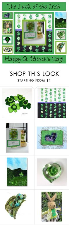 """The Luck of the Irish"" by tornpaperco ❤ liked on Polyvore featuring interior, interiors, interior design, home, home decor, interior decorating and Gypsy Soul"