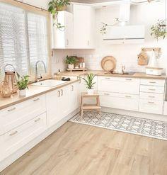 Kitchen Room Design, Modern Kitchen Design, Home Decor Kitchen, Interior Design Kitchen, Home Kitchens, Minimal Kitchen, Kitchen Ideas, Interior Plants, Interior Modern