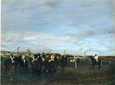 Before the Race, 1871 - 1872 - Edgar Degas - WikiArt.org