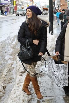 Victoria Justice from Nickelodeon's 'Victorious' spotted at Sundance 2012. The beautiful young triple threat starlet was all smiles as she crossed Historic Main Street Park City during a morning stroll stopping traffic along the way.