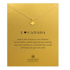 Heart Canada Maple Leaf Necklace, Gold Dipped | Dogeared