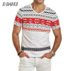 E-baihui clothing swag marka mężczyzna t koszula moda druku camiseta mężczyźni koszulki z krótkim rękawem topy tees skate moleton mężczyzna t koszula y026