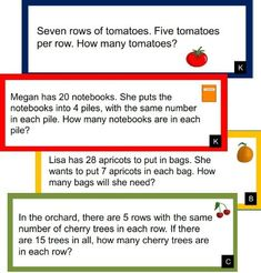 Grade Multiplication and Division Word Problems Word Problems 3rd Grade, 3rd Grade Words, 2nd Grade Math, Third Grade, Time Word Problems, Fraction Word Problems, Multiplication Problems, Math Fractions, Multiplication Strategies