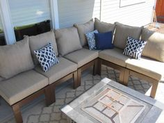 DIY outdoor sectional. So much more cost effective than new furniture - and cooler.