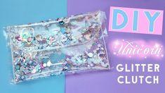 DIY Glitter Clutch,