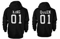 King 01 and Queen 01 Back Print Couple Matching Hoodies Cute Hooded Sweatshirts love http://www.amazon.com/dp/B0159DSDBU/ref=cm_sw_r_pi_dp_bnbswb0RKJEYP