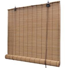 Rolgordijn Bamboe 120 x 220 cm (Bruin)
