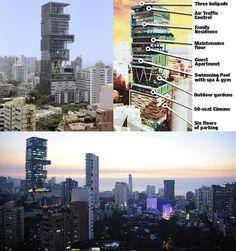 Mukesh Ambani\'s Antilia House layout: 27 floors, covers 4,532 m2 ...