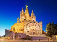Tibidabo church on mountain in Barcelona by Vasyl Onyskiv on 500px