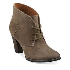 Heath Wren in Taupe Distressed Leather - Womens Boots from Clarks