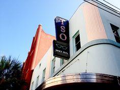 Galveston Photo Walks- smart phone photo tour- TSO glasses sign- downtown Galveston