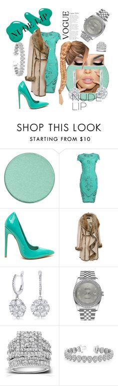 """wedding party"" by mzjerseygurl ❤ liked on Polyvore featuring beauty, Anastasia Beverly Hills, Posh Girl, Rolex, Kobelli, Allurez and plus size clothing"