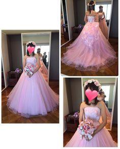 ハートコートのみなさんはイノセントリーとタカミブライダルのどちらにするかの決め手はなんでしたか_ ピンクドレスチュール系のドレスが本当に好き( ˊˋ )ただ淡いピンクは似合わなかった そしてサイズが小さすぎて広がった後ろを布で隠してくれる優しさそろそろ本当に痩せなくてはノ)ノ  #ピンクドレス #カラードレス試着 #カラードレス迷子 by sa_yukitomo_ho