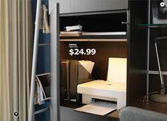 ikea ad: printer space -- magazine files to hold printer paper